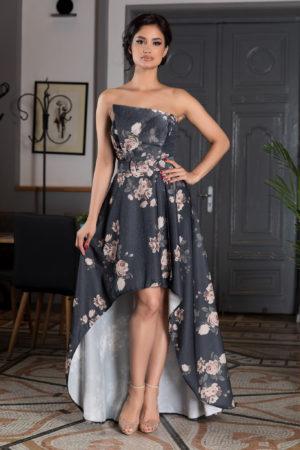 Rochie eleganta de vara cu bretele si imprimeu floral Mandy